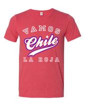 New Vamos Chile La Roja Adult XL Futbol Soft T-shirt - $16.83