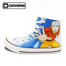Canvas Shoes Men Women Converse Chuck Taylor The Last Airbender Aang Des...  - 62e0a8019