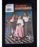 Simplicity Costumes 7214 Misses Circle Skirt w Applique patterns Sz P 12-16 - $3.95