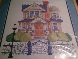 Bucilla 41654 Victorian Charmer House Stamped Cross Stitch Kit 1997 Nancy Rossi - $63.21