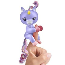 Fingerlings Baby Unicorn - Alika Purple with Rainbow Mane and Tail - Int... - $18.09