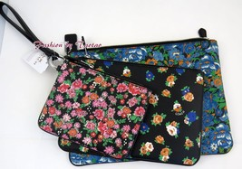New w Tag COACH F 57598 POUCH TRIO FLORAL PRINTED COATED CANVAS 3 PC BAG - $88.11
