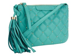 Isaac Mizrahi Live! Bridgehampton Lamb Leather Mini Bag, Caribbean Blue - $39.59