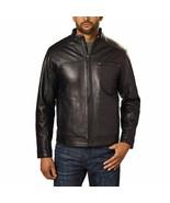 Boston Harbour Men's Genuine New Zealand Lambskin Leather Jacket, Black,... - $69.29
