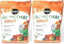 (2) Miracle Gro Organic Choice Potting Mix For Container Plants 8 Dry Qt... - $49.49