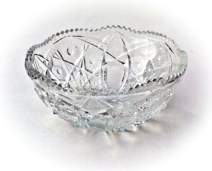 Primary image for 7 3/4 inch NuCut Glass Bowl by Imperial Glass Co. Vintage Before 1932