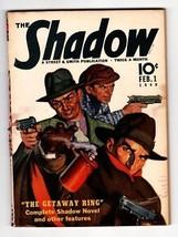 The Shadow Rare Pulp Magazine Feb 1 1940- Getaway Ring Street & Smith - $242.50