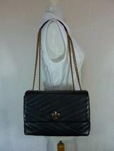 NWT Tory Burch Black Kira Chevron Convertible Shoulder Bag - $512.82