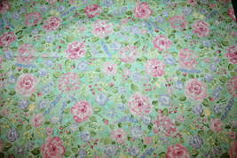 DENA DESIGNS FOR IN THE BEGINNING FABRICS -  MIXED FLOWERS ON GREEN  - $7.91