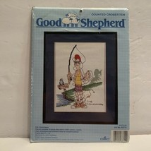 """""""The Fisherman"""" Counted Cross Stitch Kit by Good Shepherd - Sealed - $15.99"""