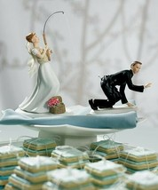 Gone Fishing Couple Bride & Groom Wedding Cake Topper CUSTOMIZATION Avai... - $64.98
