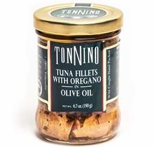 Tonnino Gourmet Tuna Filets Low Calorie and Gluten Free Kosher Yellowfin Jarred