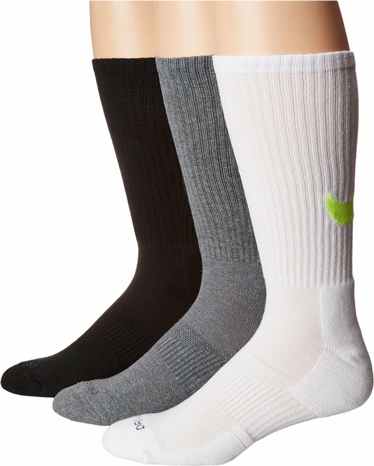Unisex Nike 3 Pack Dry Cushion Crew Training Sock SX4950-946 SZ X-Large 12-15 - $20.00