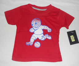 NIKE INFANT Boys Red Soccer T-Shirt Sz 12   Months NWT - $11.89