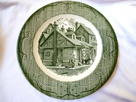 """Royal China The Old Curiosity Shop 10"""" dinner plate Made in USA green - $31.19"""