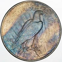 1924-P PEACE SILVER DOLLAR BU GORGEOUS BLUE COLORWAY UNC TONED CHOICE (MR) - $197.99