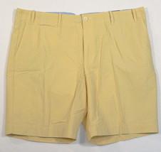 Perry Ellis Portfolio Yellow Cotton & Nylon Flat Front Casual Shorts Men... - $41.24
