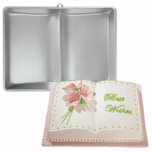 Wilton Two Mix Book Cake Pan Birthday Shower Graduation Baptism - $19.69