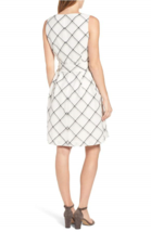 NWT ANNE KLEIN WHITE LINED FLARE BELTED DRESS SIZE 16 $119 image 3