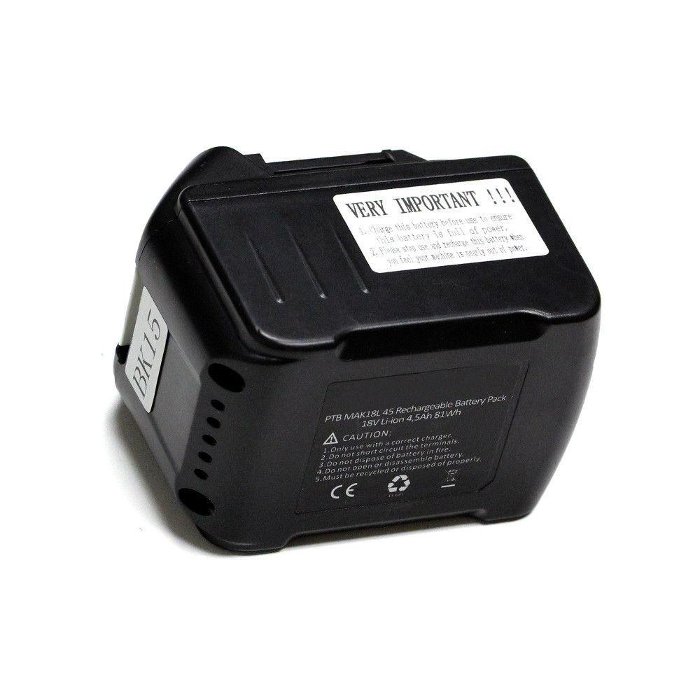 Li-ion 18V for Makita Cordless Drill BL1840 194205-3, BFS450F,  LXT400 4500mAh image 5