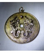 1950s Oriental 14K Gold Double Dragon Pendant Chinese Good Luck 9.1 grams - $425.00