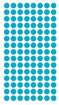 "1/4"" Light Blue Round Color Coding Inventory Label Dots Stickers Made In Usa - $6.39"