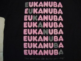 Vintage Eukanuba Dog Food Brand Black T Shirt Size L - $19.69 CAD