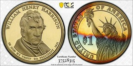 2009-S PCGS PR69DCAM Colorful Toned Proof W H Harrison Presidential Doll... - $94.05