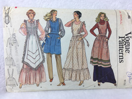 Vogue 7256 Misses Aprons Sewing Pattern Sz Small - $8.00