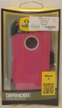BRAND NEW IPHONE 5 / 5S PINK / WHITE OEM OTTERBOX DEFENDER WITH CLIP - $11.99
