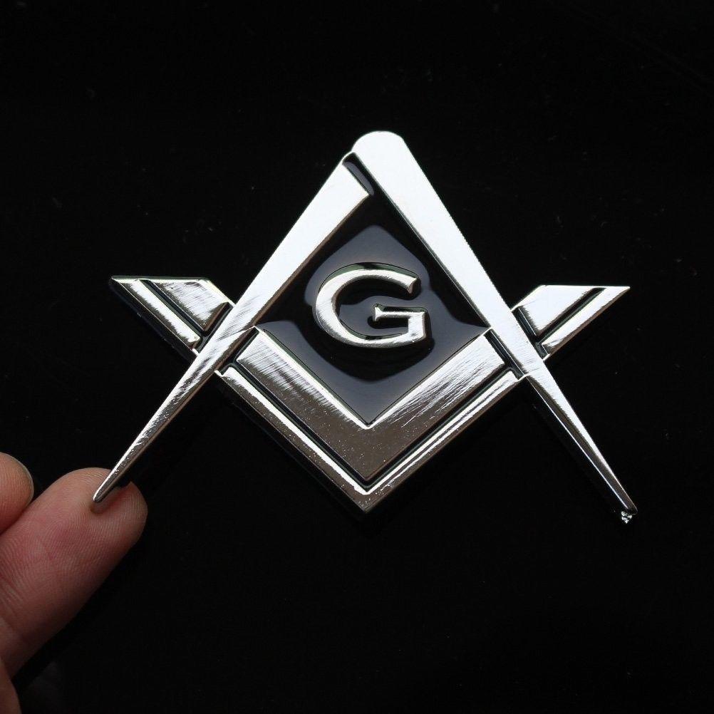 Mason Masonic Detailed Chrome Auto Emblem