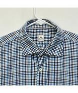 Peter Millar Men's Shirt Blue White Checked XL - $32.64