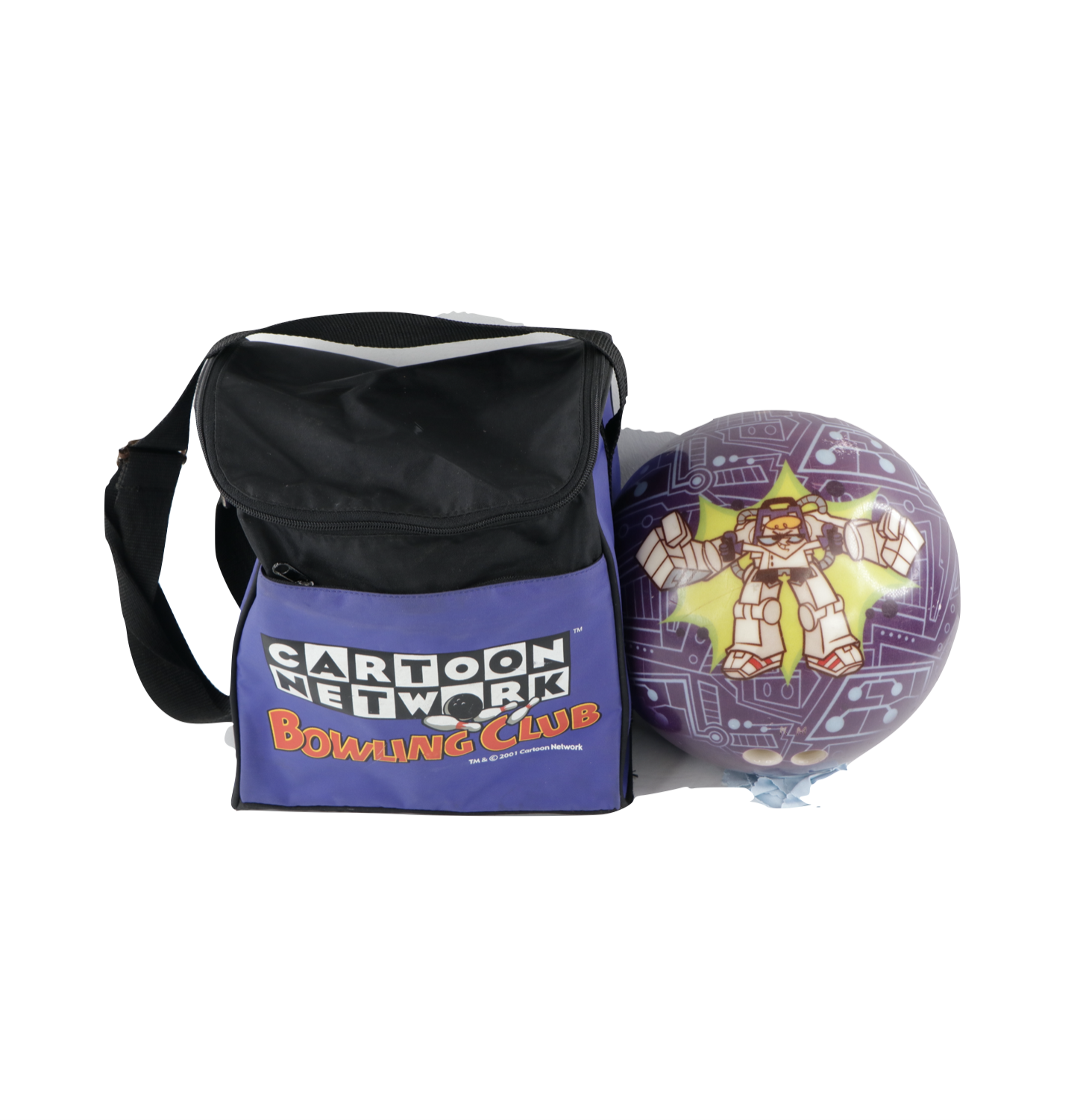 Primary image for Vintage Cartoon Network Dexter's Laboratory Bowling Ball and Carrying Bag USA