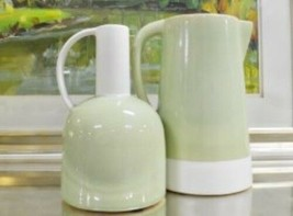 2 PC Accent Vase Set Home Decor Table Shelf Accessory Plant Holder Floor... - $117.86