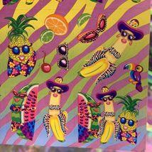 S251  MINTLisa Frank Fabulous Fruit Pineapple Watermelon Banana Sticker image 3