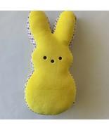 Huge Yellow Peeps Plush Stuffed  Easter Bunny w/ Rainbow Polka Dots Peep... - $38.60