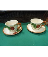 "Beautiful FRANCISCAN ""Apple"" ....1 Cup & Saucer and 1 FREE Cup and Saucer - $5.53"
