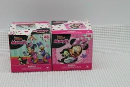 Lot of 2 Minnie Mouse Daisy Duck Puzzle 24 Pcs. Disney Junior Cardinal P... - $10.68