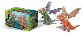 Walking Dinosaur 3 Headed Dragon Kids Light Up Toy Figure Sounds Movemen... - $15.83