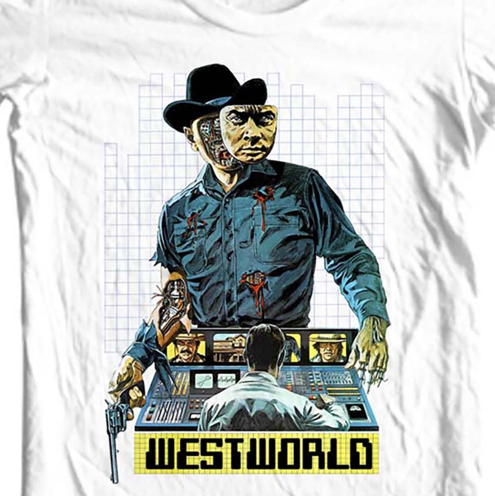 Westworld t-shirt vintage 1970s movie western sci fi film Futureworld tee shirt