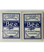 Bee No 92 Club Playing Cards Special Blue Stamp Hilton Sands Cardback Decks - $18.69