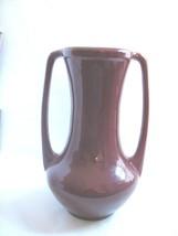 """HAEGER Pottery 1996  Maroon Urn Shape Handled Vase Large- 13"""" - $29.65"""