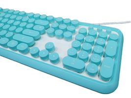 iRiver Korean English Keyboard USB Wired Membrane Bubble Keyboard for PC (Blue) image 2