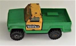 Tonka Green & Yellow Plastic Tonk & Metal Pickup Truck Vintage 1978 - $5.95