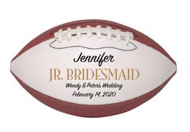 Junior Bridesmaid Mini Football Wedding Gift - Personalized Wedding Favor - $34.95