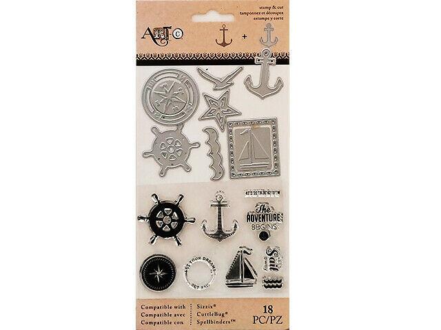Spellbinders Art-C Nautical Stamp and Die Set #25893