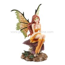 "*New* 2013 Amy Brown Fantasy Little Mae Faery Mushroom Fairy Statue Enchanted 6"" - $25.73"
