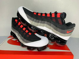NEW Size 8 9 9.5 11 Nike Air Max Vapormax 95 Hot Red Black Comet Running... - $119.99