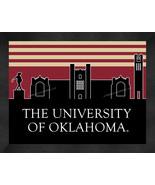 Oklahoma Sooners 13 x 16 Uscape with Retro Skyline Framed Print  - $39.95