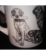 The Cache Dog Puppy Black and White Coffee Mug Tea Cup - $5.00